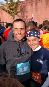 Brian Behrend and Nicole Kitson at the Tunnel to Towers Run in NYC.